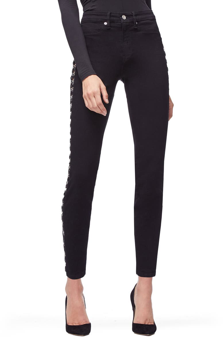 Good Waist Hook & Eye Detail Ankle Skinny Jeans