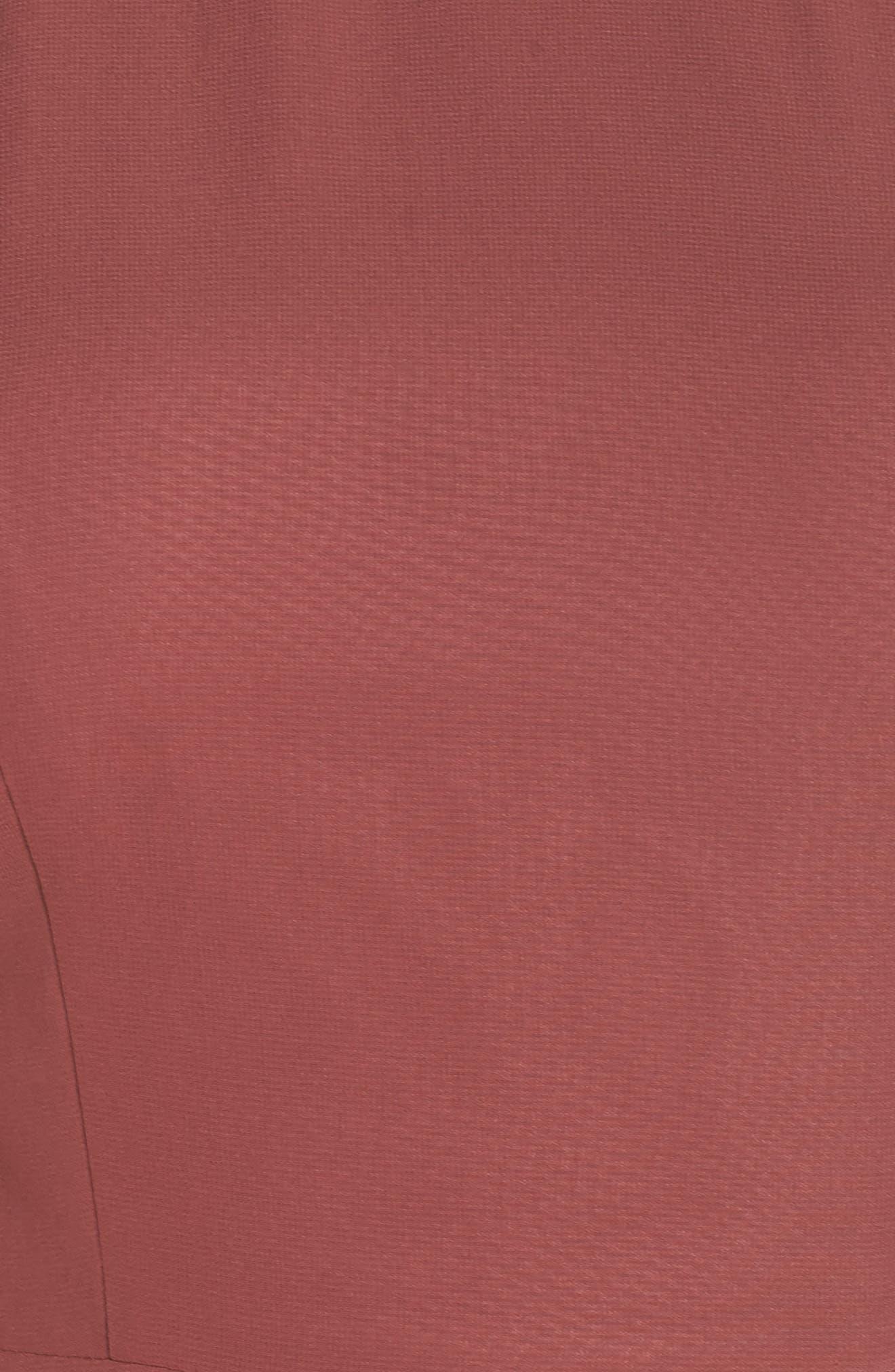 Kayla A-Line Halter Gown,                             Alternate thumbnail 6, color,                             Cinnamon Rose