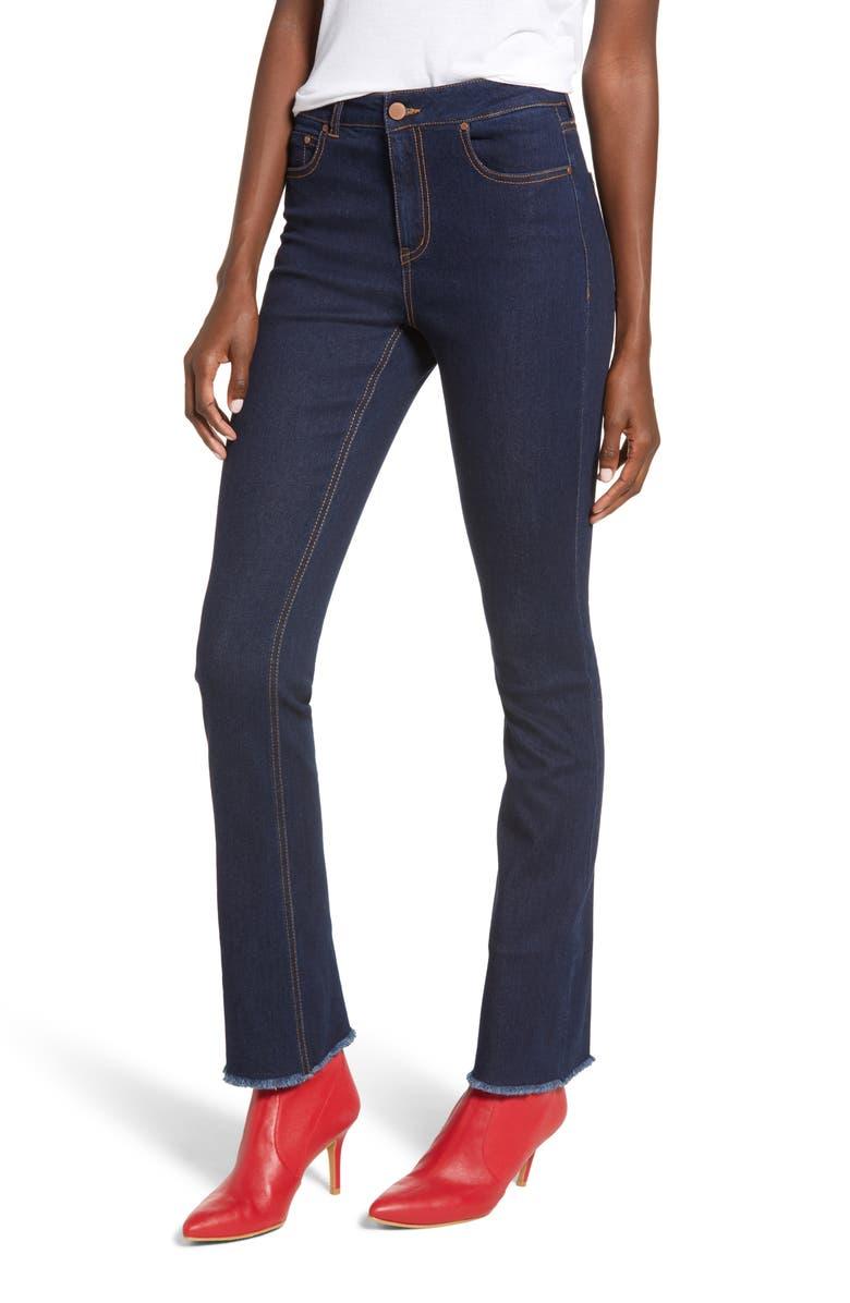Frayed Flare Leg Jeans