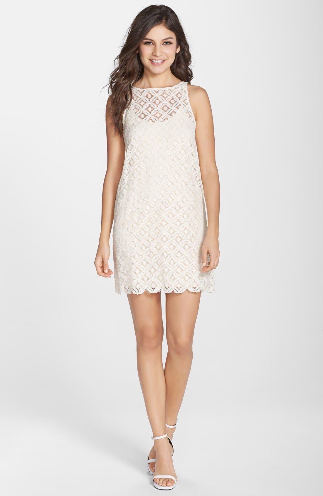 Alternate Image 3  - BB Dakota 'Mark' Lace Sleeveless Shift Dress
