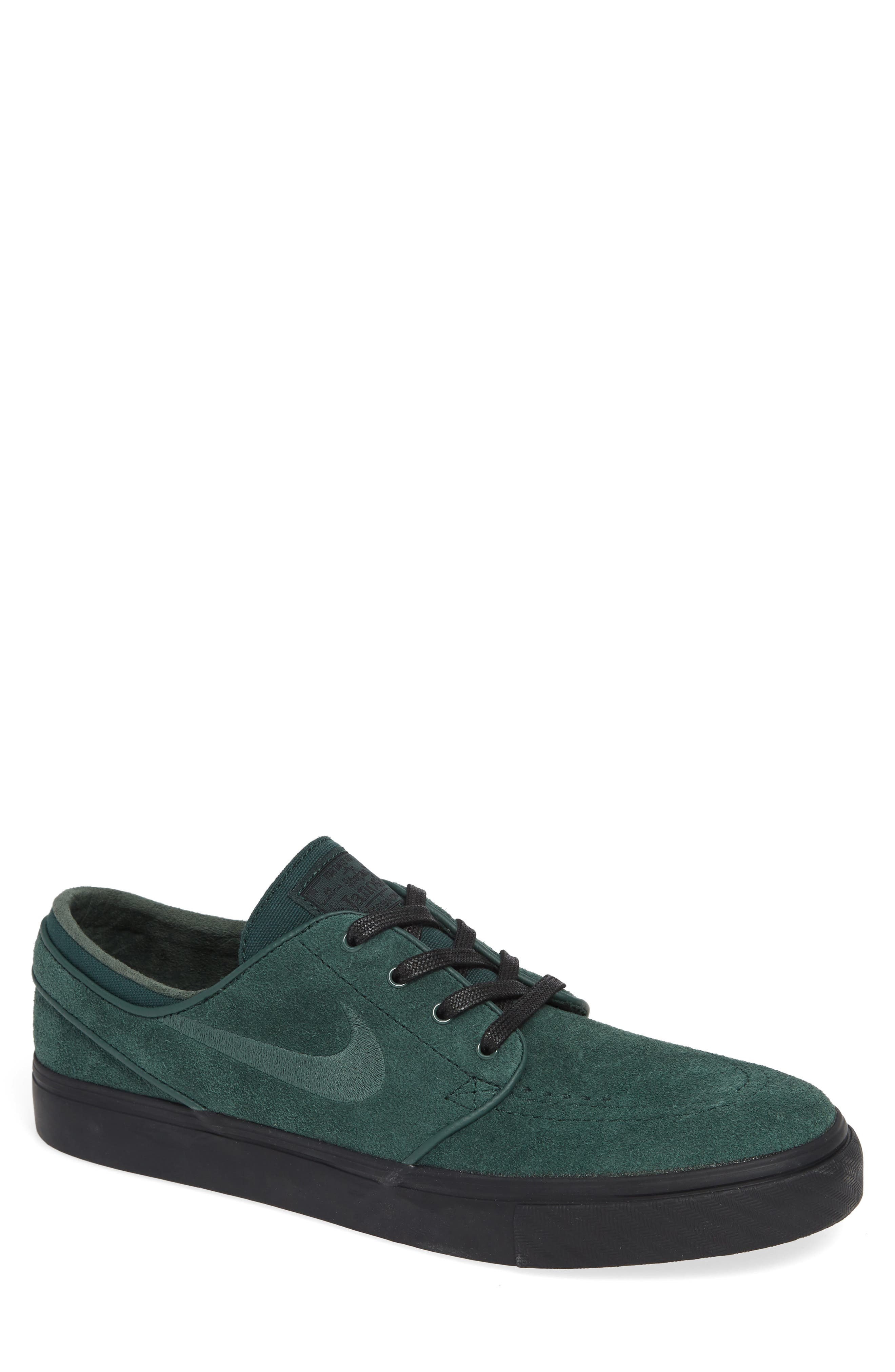 'Zoom - Stefan Janoski' Skate Shoe,                             Main thumbnail 1, color,                             Midnight Green/ Black