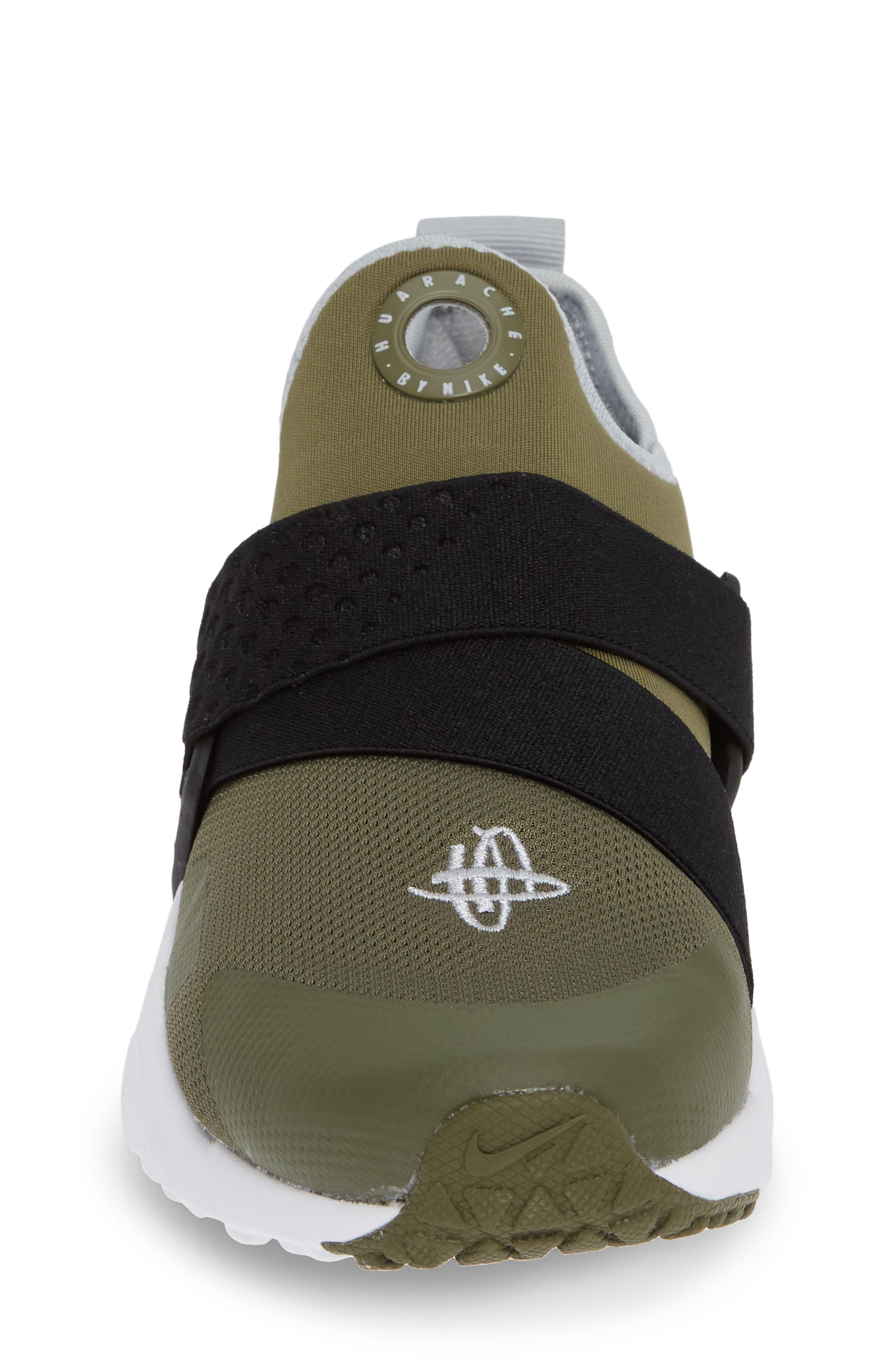Huarache Extreme Sneaker,                             Alternate thumbnail 5, color,                             Olive/ Wolf Grey/ Black/ White