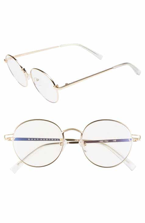 Quay Australia I See You 49mm Round Fashion Glasses