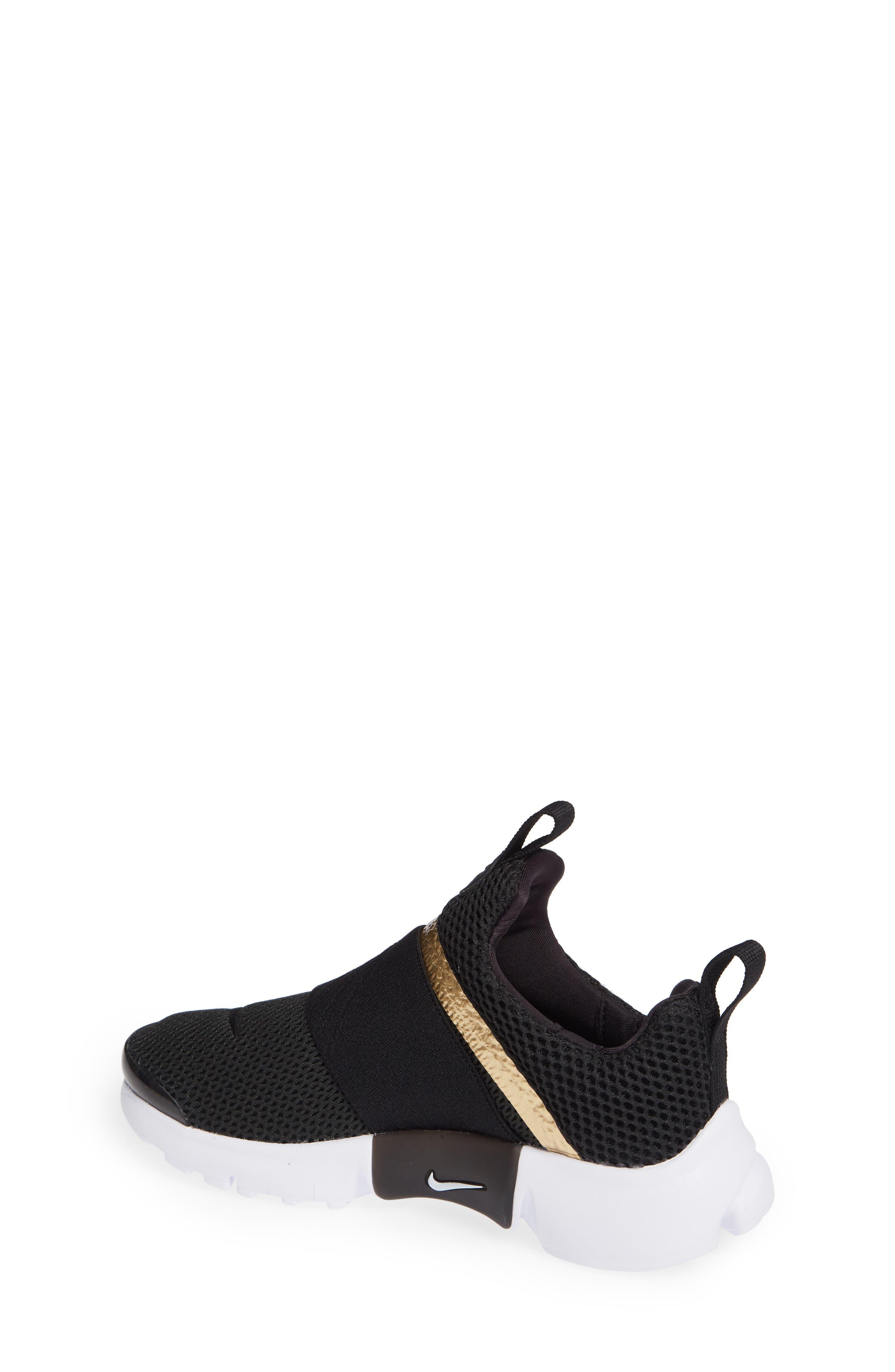 Presto Extreme Sneaker,                             Alternate thumbnail 2, color,                             Black/ Metallic Gold/ White