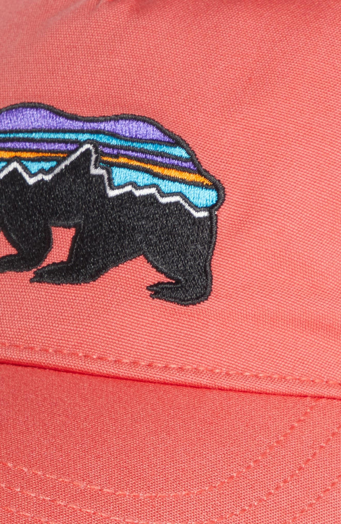 Fitz Roy Bear Trucker Hat,                             Alternate thumbnail 3, color,                             Spiced Coral