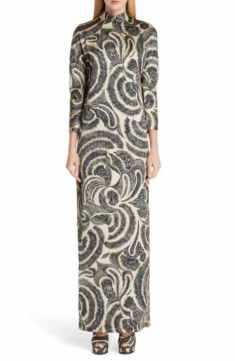 Dries Van Noten Tattoo Print Maxi Dress