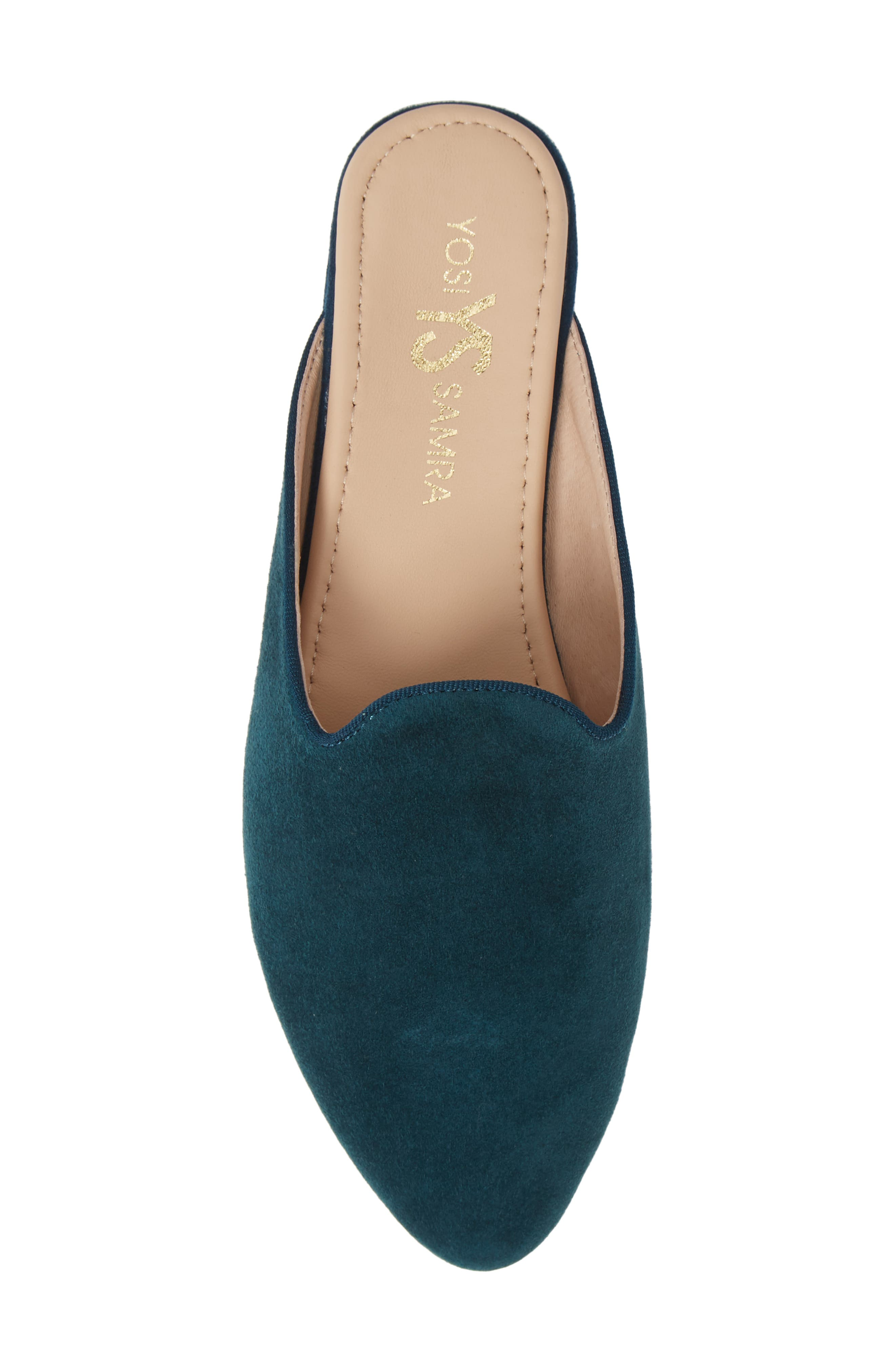 Vidi Mule,                             Alternate thumbnail 4, color,                             Teal Suede
