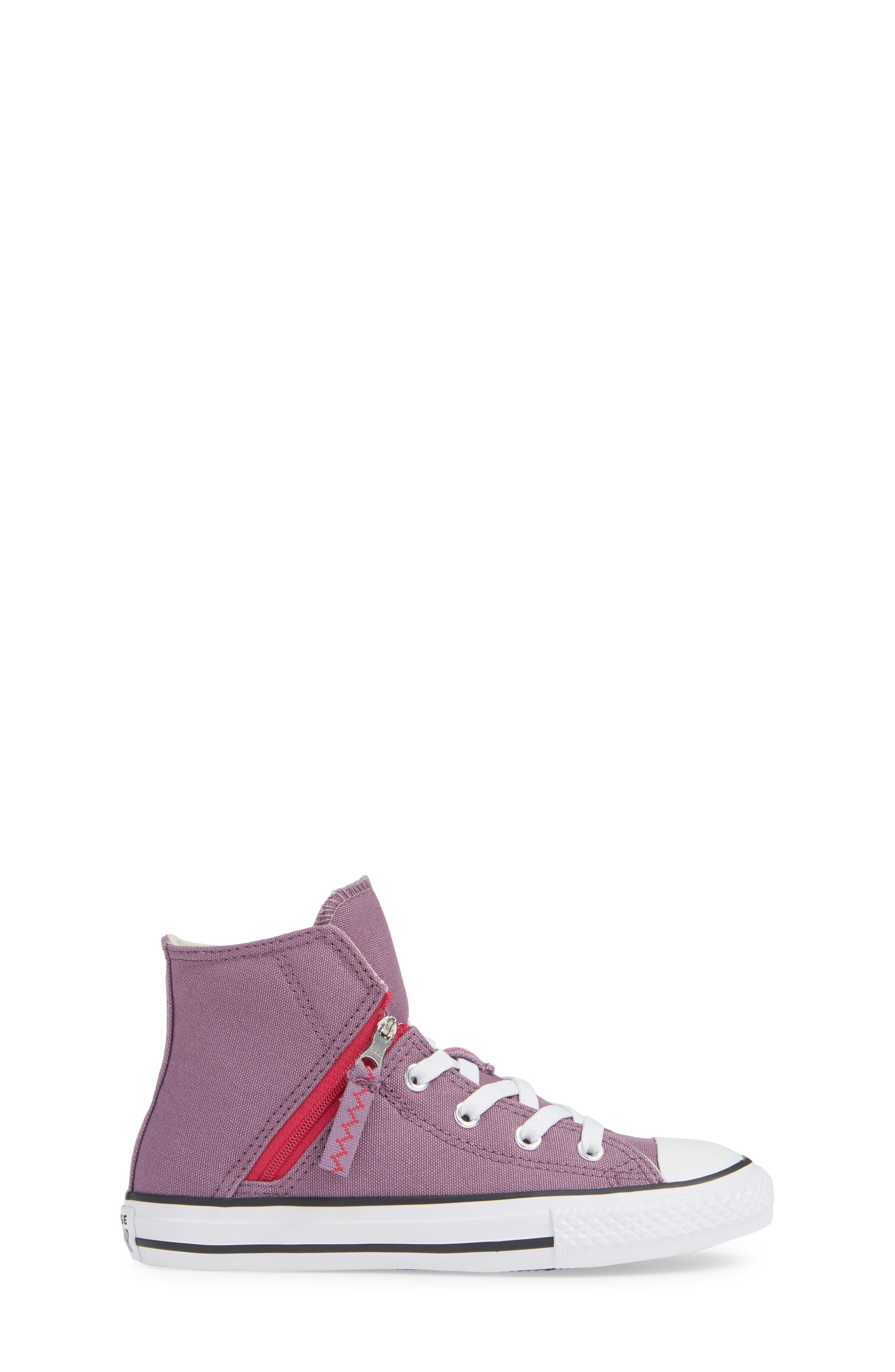 Chuck Taylor<sup>®</sup> All Star<sup>®</sup> Pull Zip High Top Sneaker,                             Alternate thumbnail 6, color,                             Violet Dust