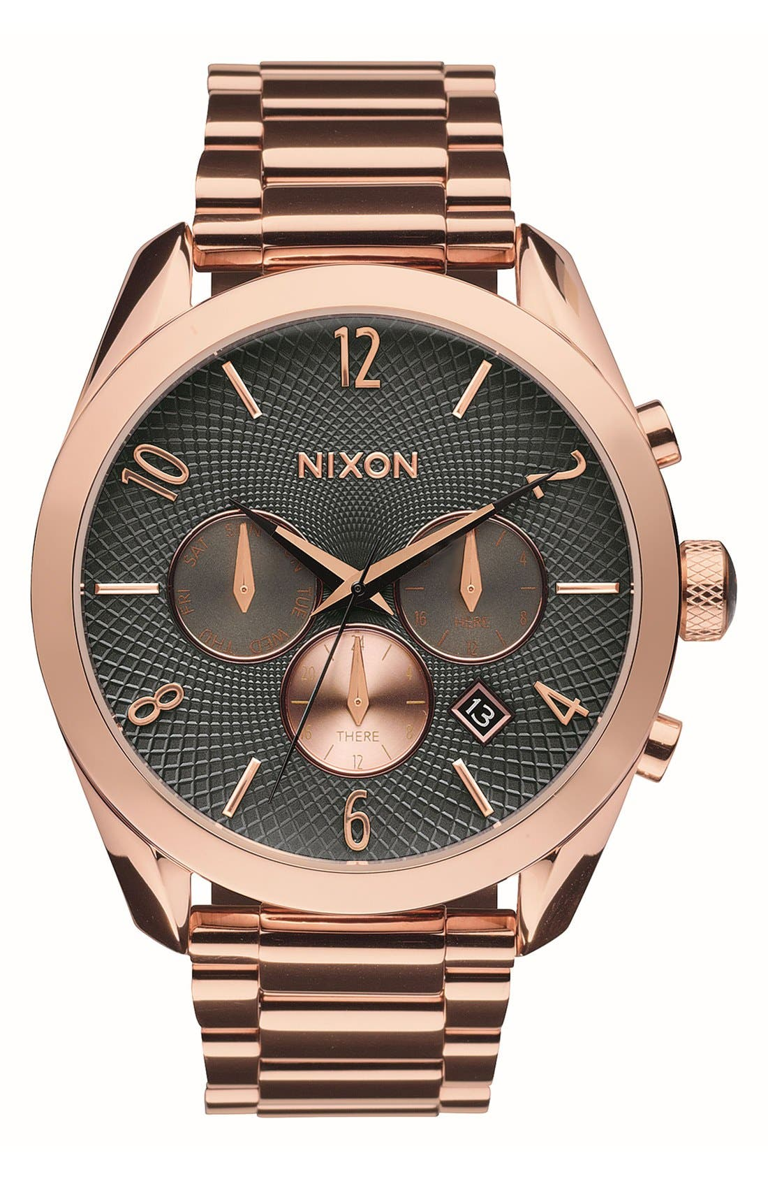Main Image - Nixon 'Bullet' Guilloche Chronograph Bracelet Watch, 42mm