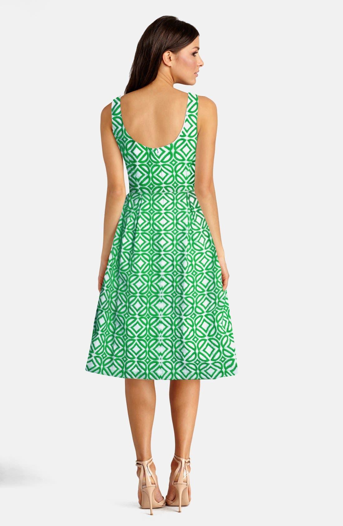 Alternate Image 2  - Donna Morgan Jacquard Fit & Flare Dress