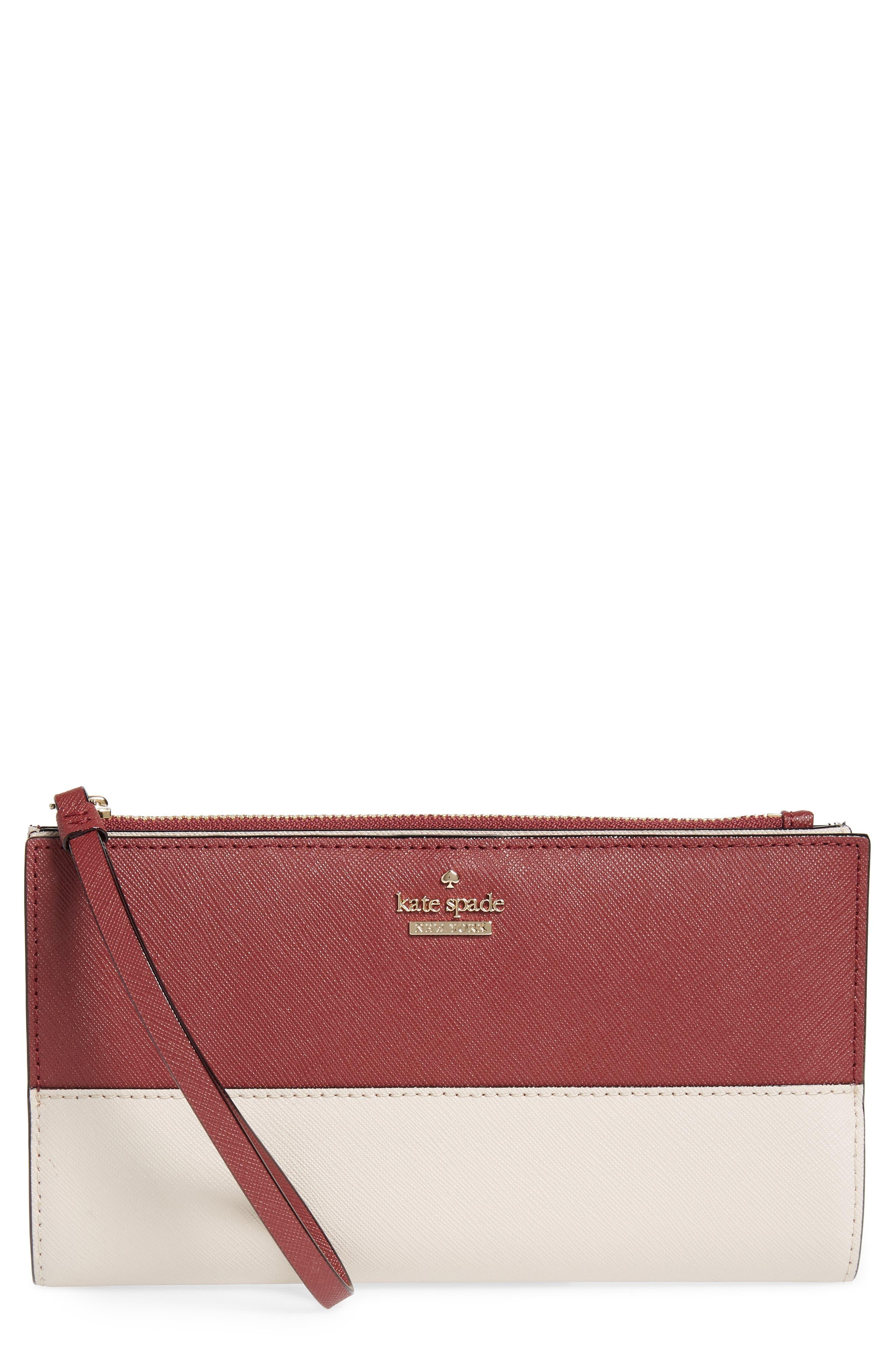cameron street - eliza leather wallet,                         Main,                         color, Sienna/ Tusk