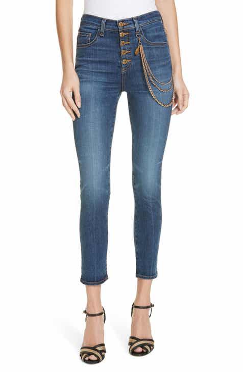 c3fab82a59 Veronica Beard Debbie Chain Detail Skinny Jeans (Nantucket)