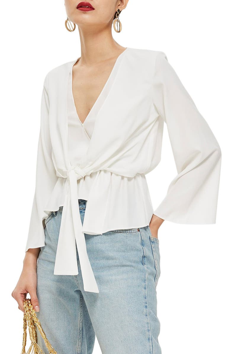 Topshop Tiffany Asymmetrical Blouse | Nordstrom