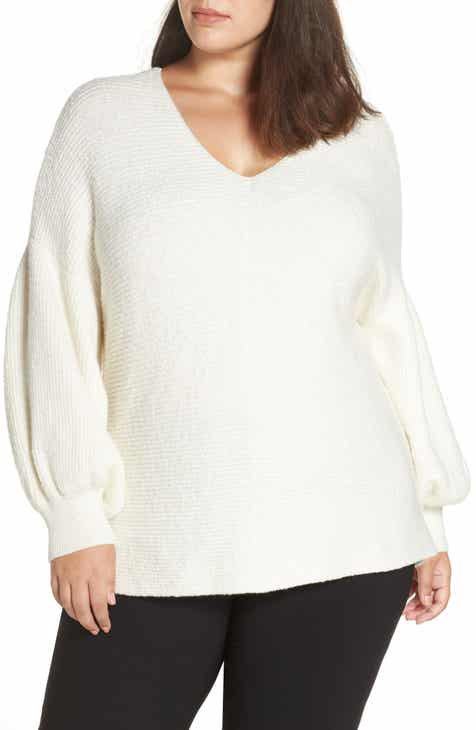 1.STATE Bubble Sleeve Sweater (Plus Size)