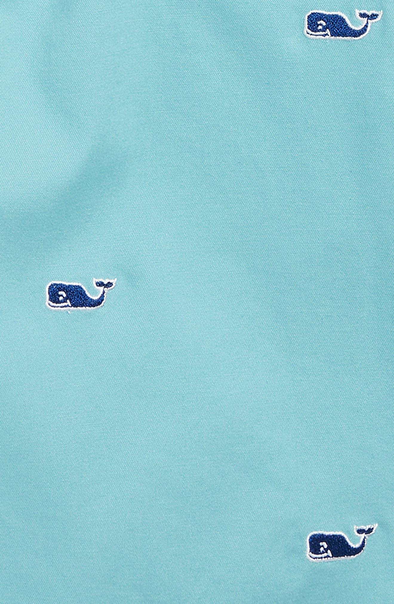 Embroidered Stretch Breaker Shorts,                             Alternate thumbnail 2, color,                             Aqua Ocean