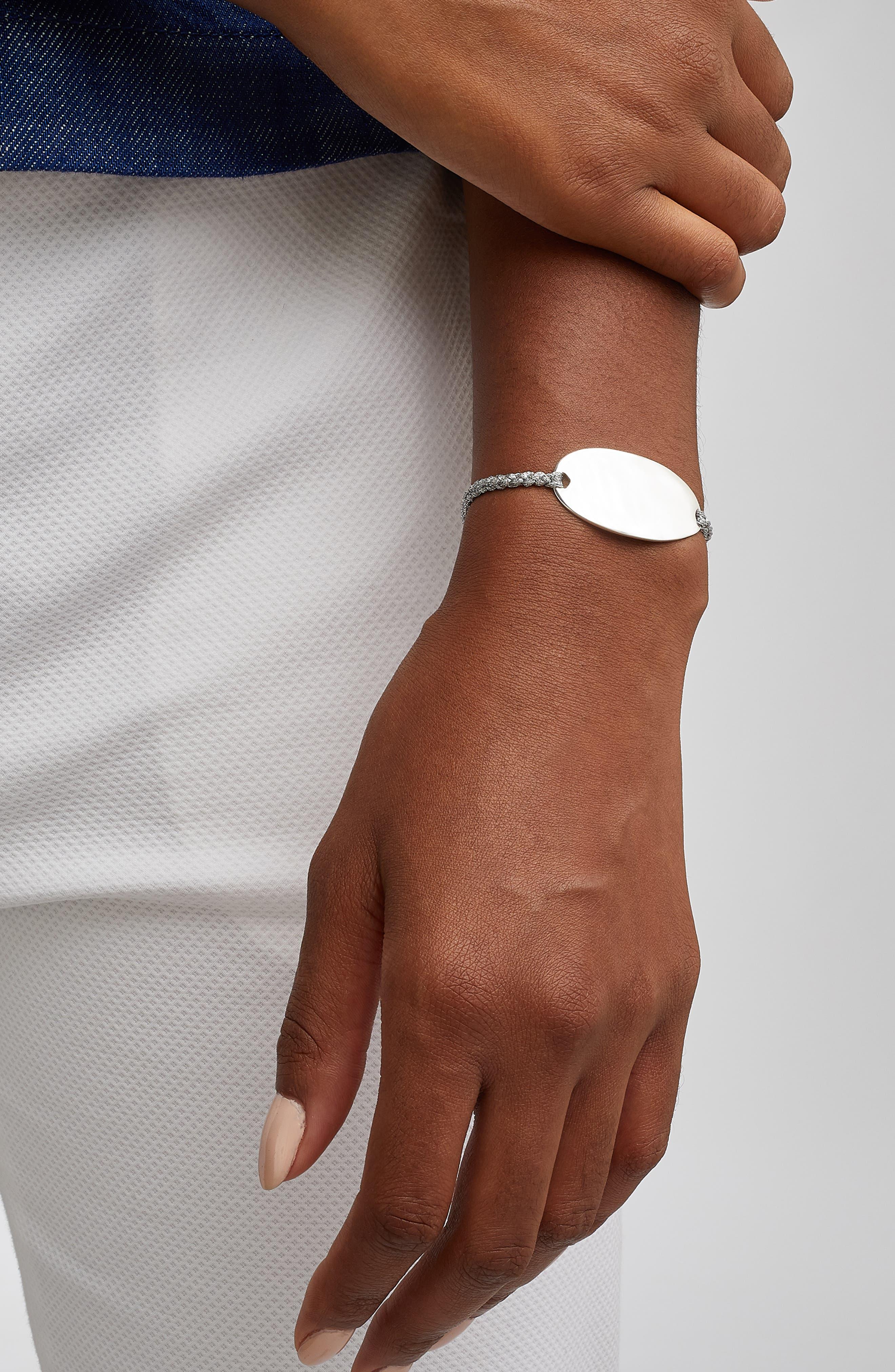 Engravable Nura Friendship Bracelet,                             Alternate thumbnail 5, color,                             Silver
