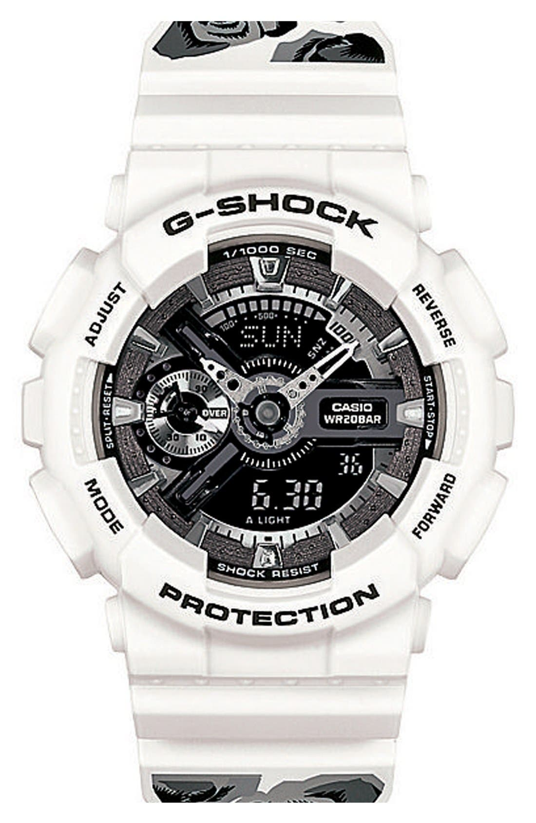 Alternate Image 1 Selected - G-Shock 'S-Series' Floral Band Resin Ana-Digi Watch, 49mm