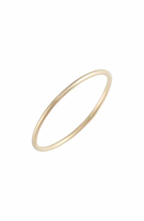 Poppy Finch Skinny Gold Ring