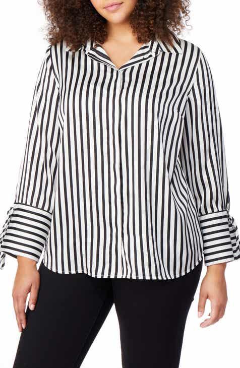 c805cdf6a4d17 Rebel Wilson x Angels Tie Sleeve Print Shirt (Plus Size)