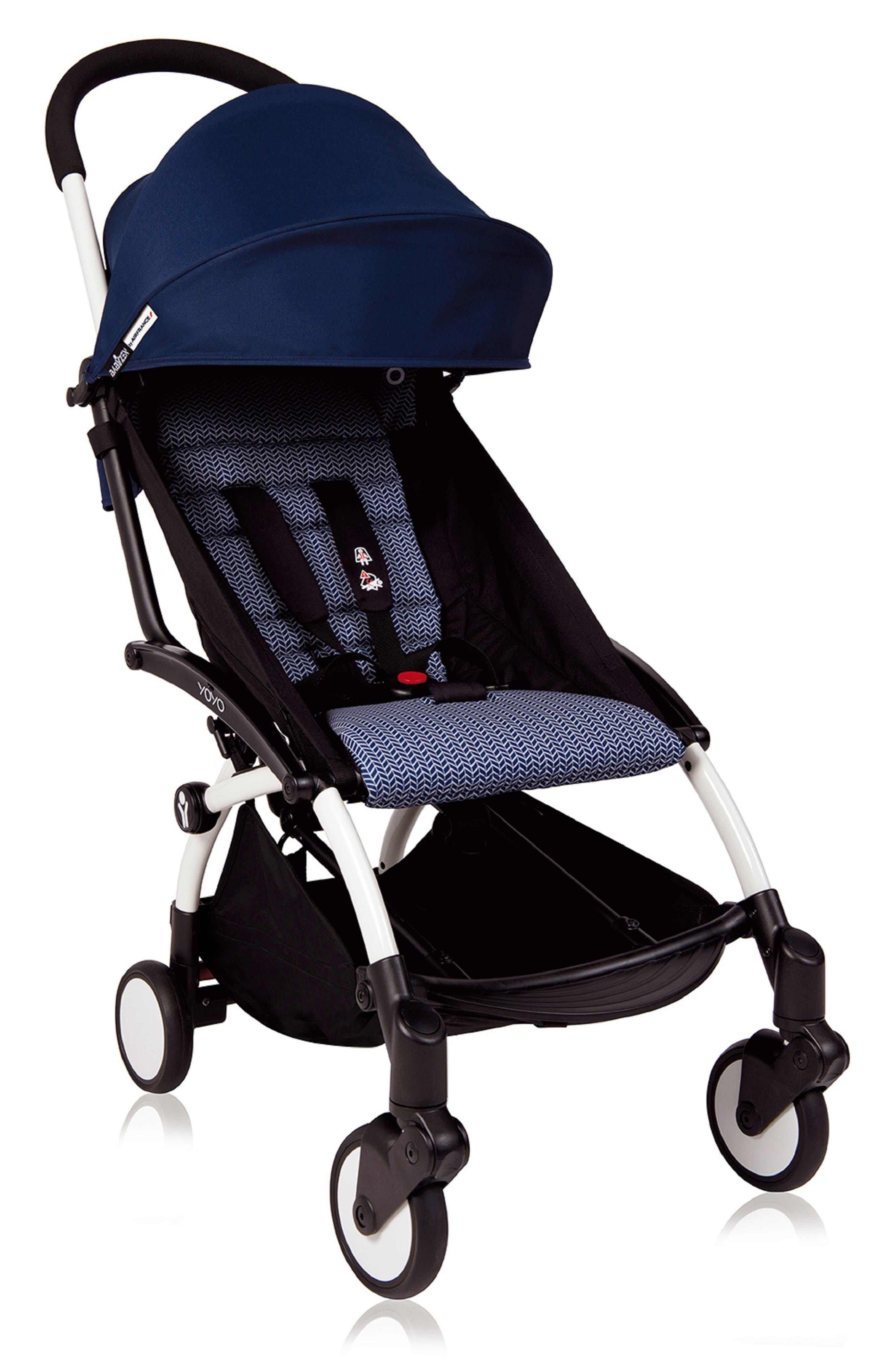 YOYO+ Stroller Frame,                             Main thumbnail 1, color,                             White/ Air France Navy