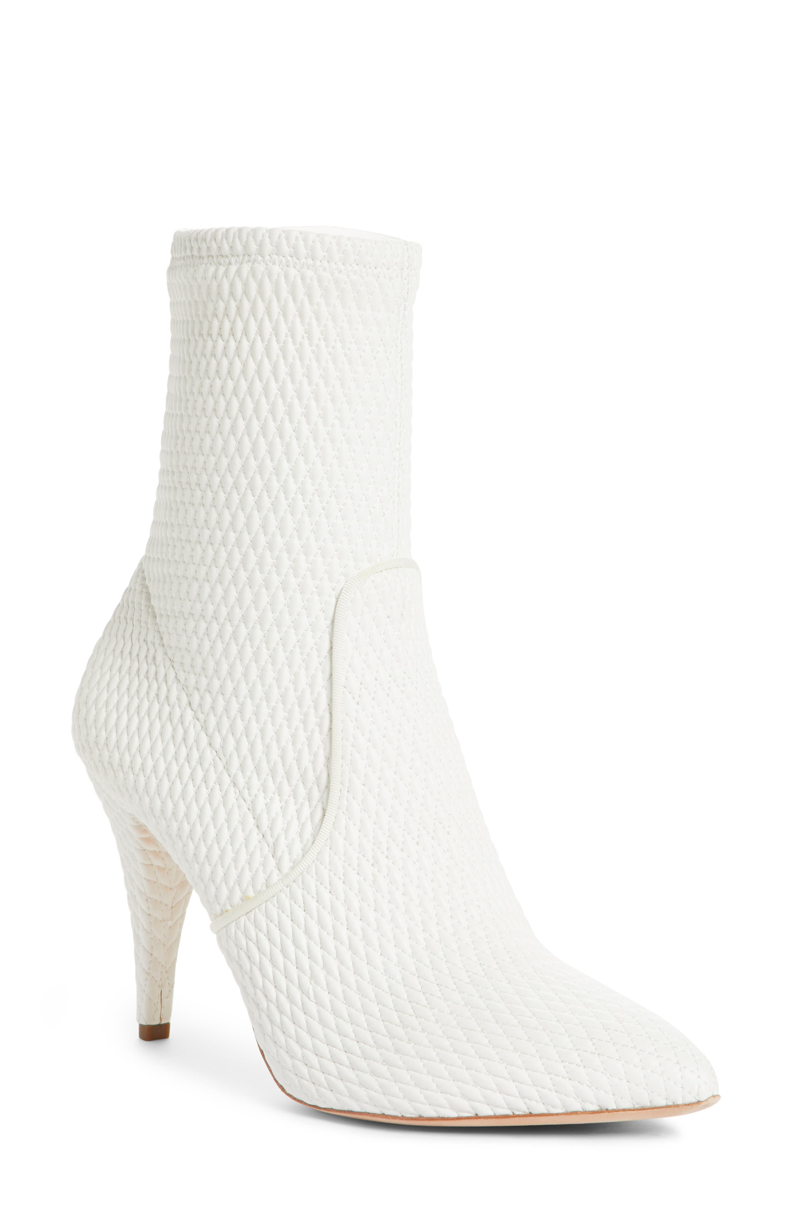 Hedde Pointy Toe Bootie,                             Main thumbnail 1, color,                             White
