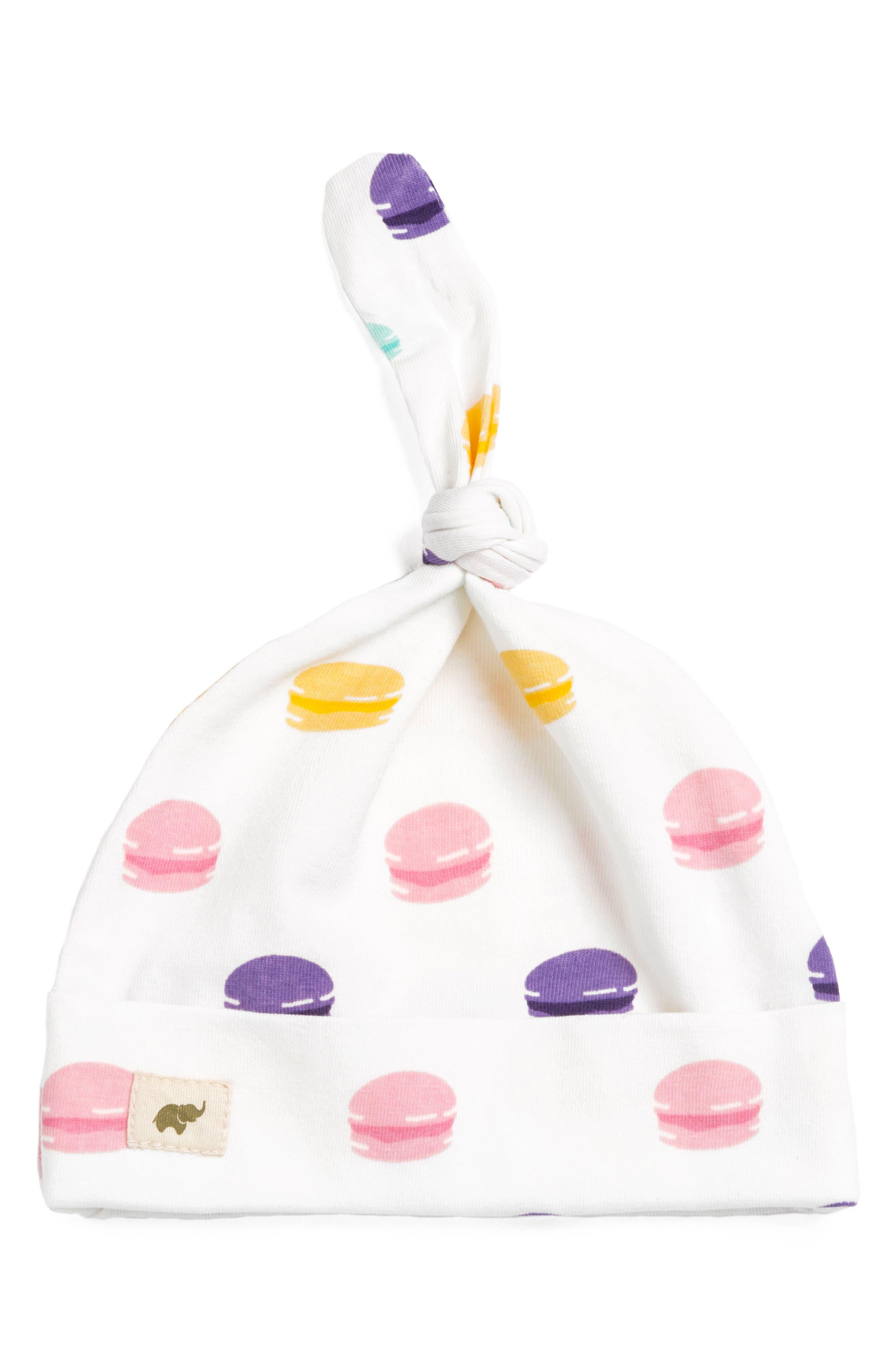 Le Macaron Top Knot Cap,                         Main,                         color, Le Macaron