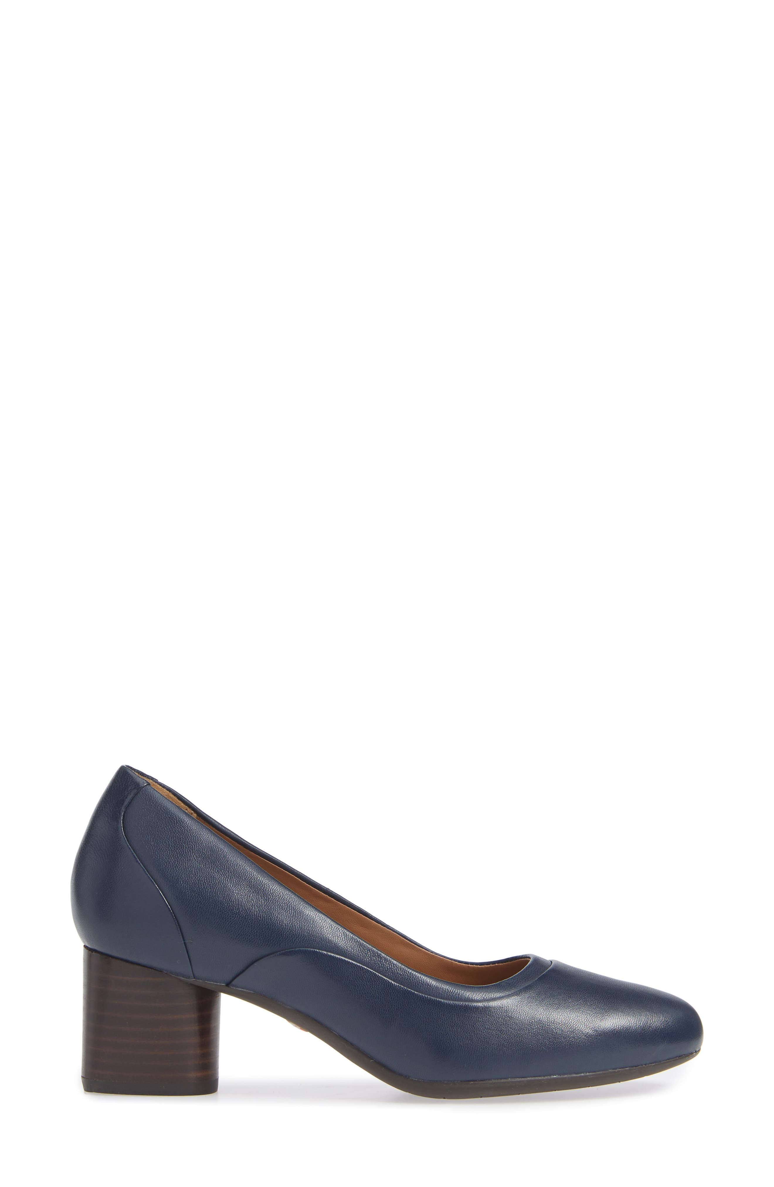 Un Cosmo Step Pump,                             Alternate thumbnail 6, color,                             Navy Leather