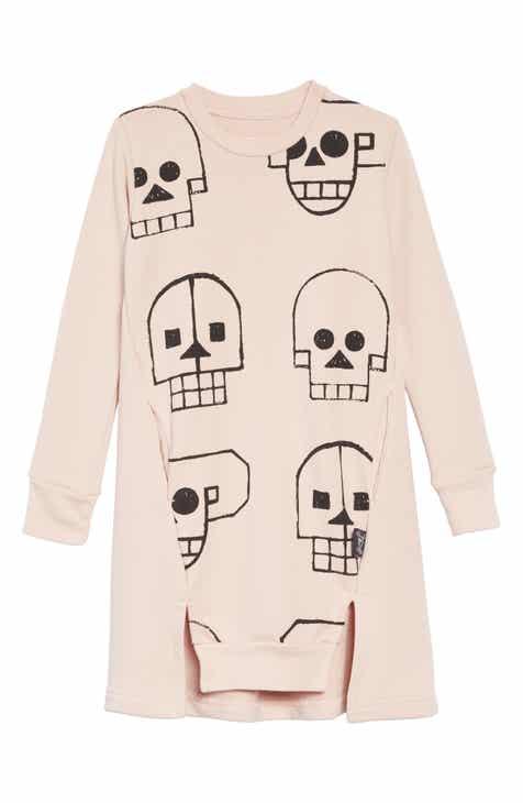 28414f2a328 Nununu Skull Robot Sweatshirt Dress (Baby Girls)