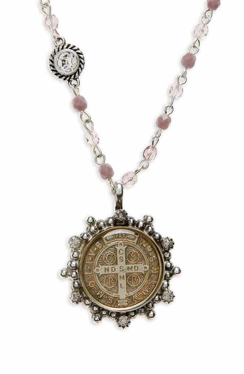Virgins Saints Angels San Benito Magdalena Rosary Necklace