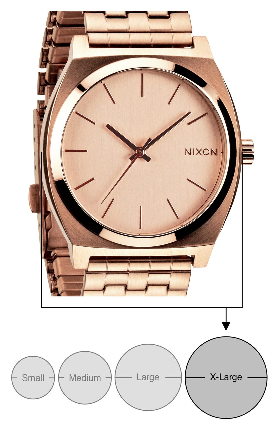 'The Time Teller' Watch, 37mm,                             Alternate thumbnail 4, color,                             Rose Gold