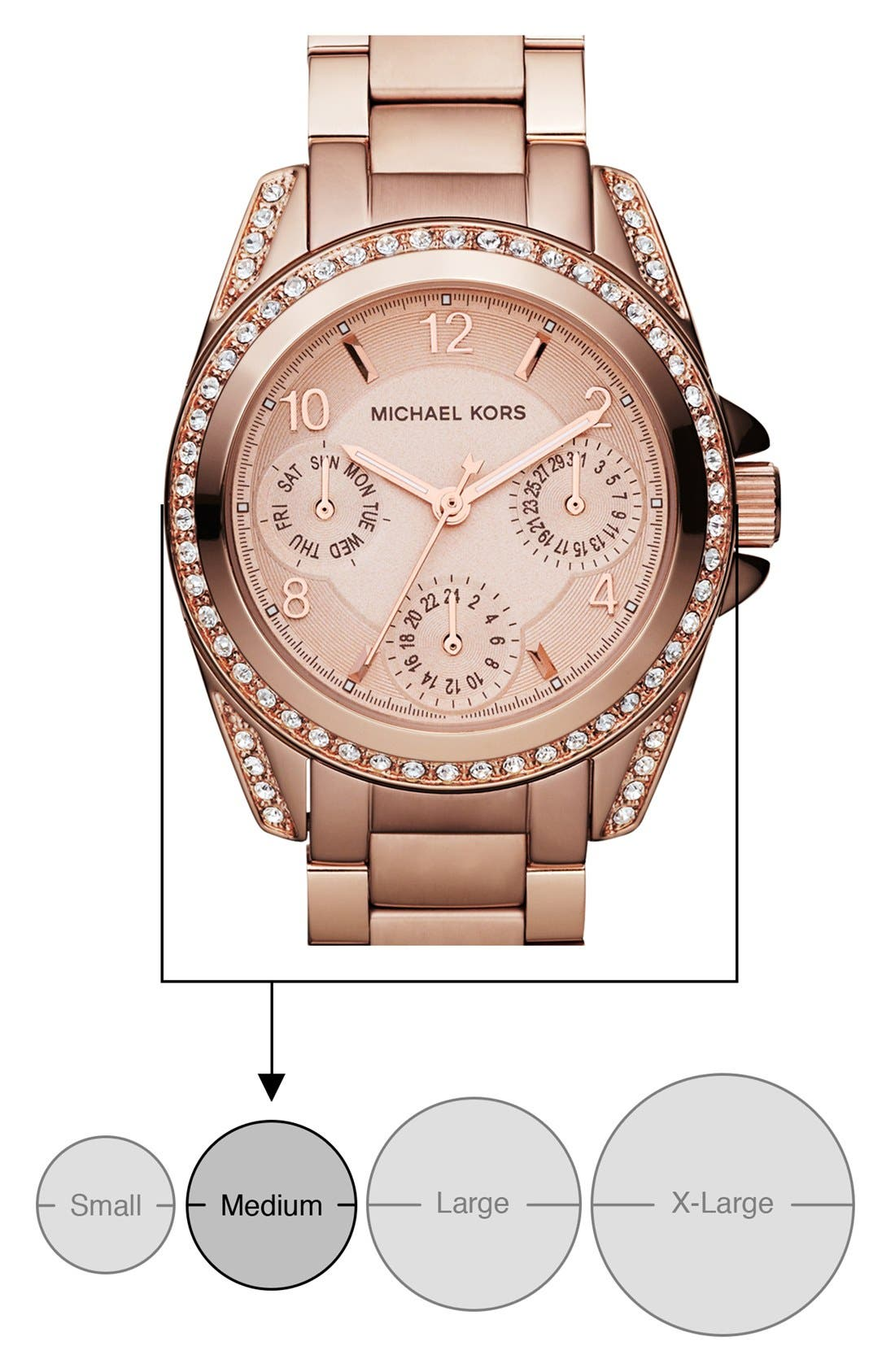 Alternate Image 3  - Michael Kors 'Blair - Mini' Multifunction Watch, 33mm