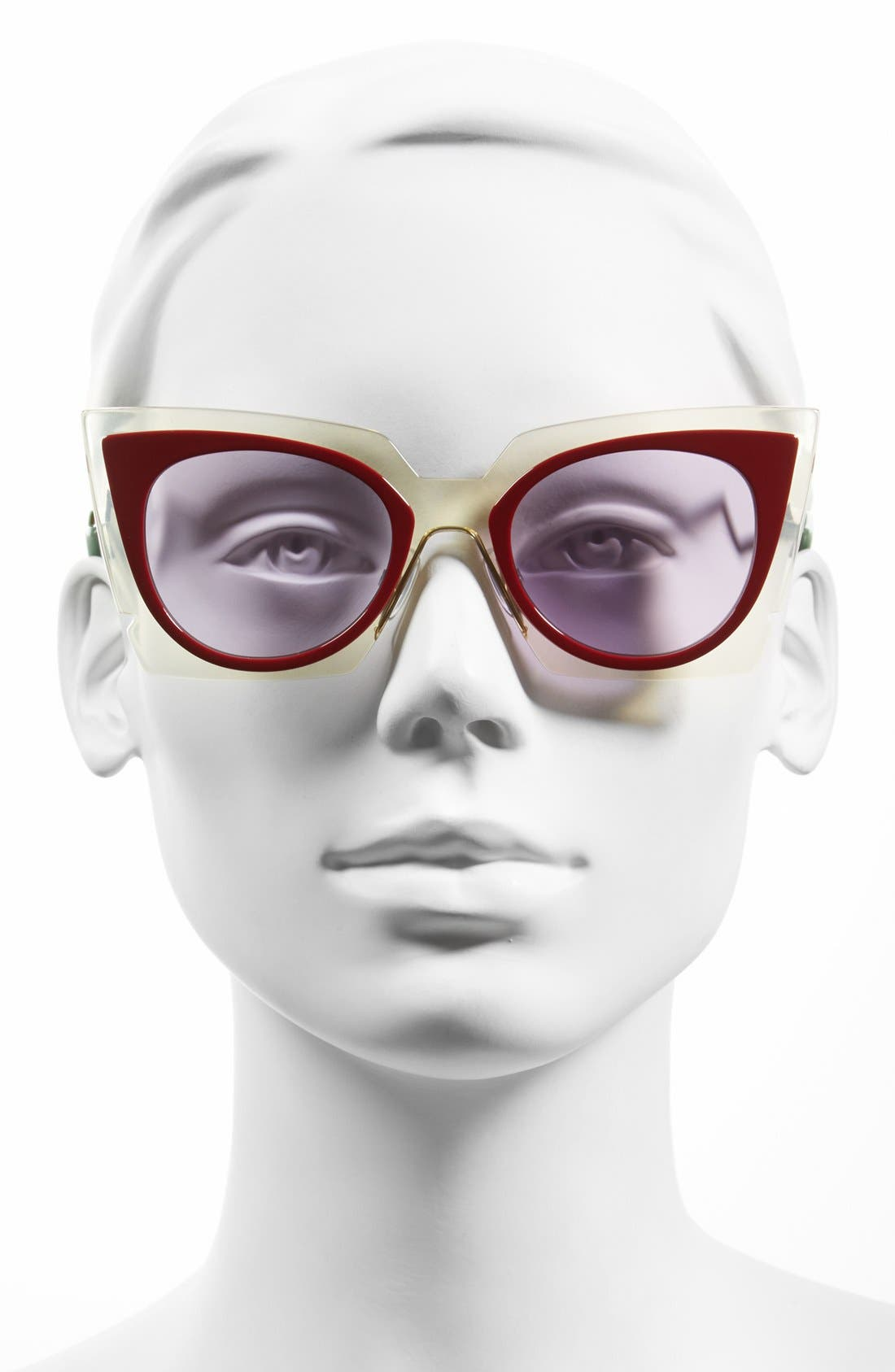 Alternate Image 2  - Fendi 49mm Cat Eye Sunglasses