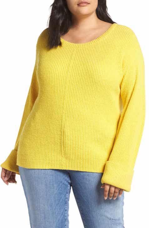 ccff91b4b58f4 Caslon® Button Shoulder Sweater (Plus Size)