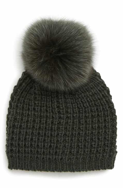 9bd54b193d99b3 Kyi Kyi Genuine Fox Pompom Hat