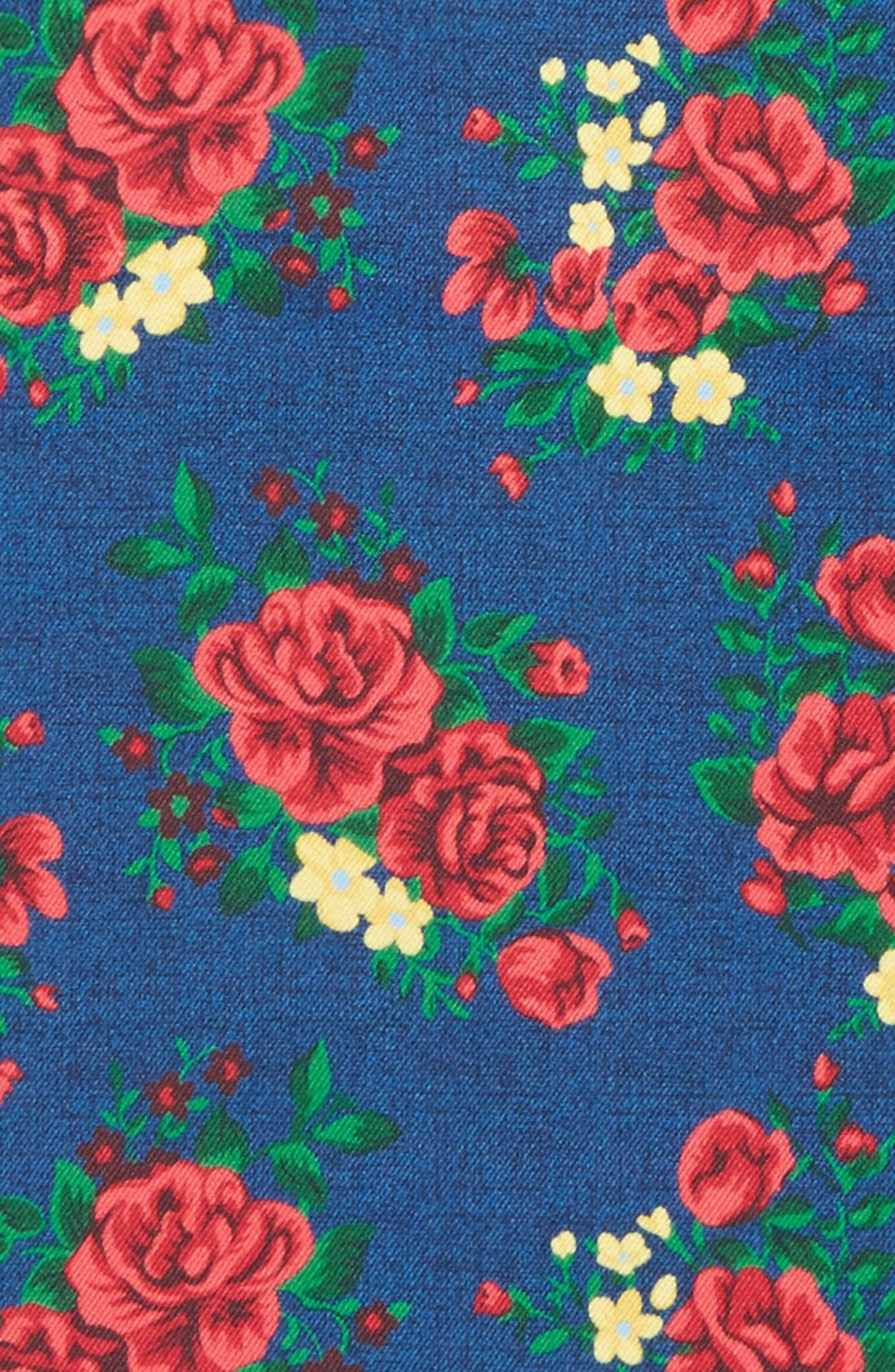 Alternate Image 3  - The Tie Bar Floral Silk Pocket Square (Online Only)