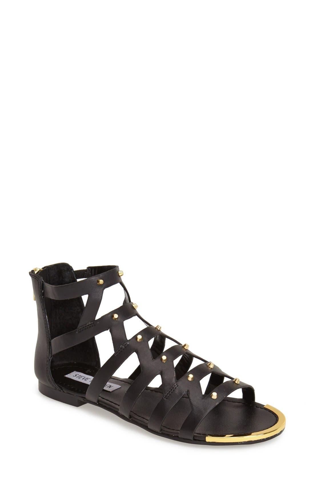 Alternate Image 1 Selected - Steve Madden 'Claudiaa' Studded Gladiator Sandal (Women)