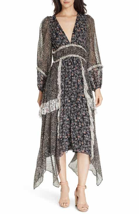 fd76e6c9a6 Ulla Johnson Primrose Floral Print Silk Blend Midi Dress