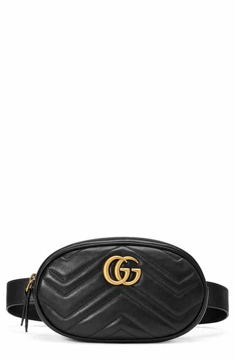 f1b2bfdea7e5 Gucci GG Marmont Matelassé Leather Belt Bag