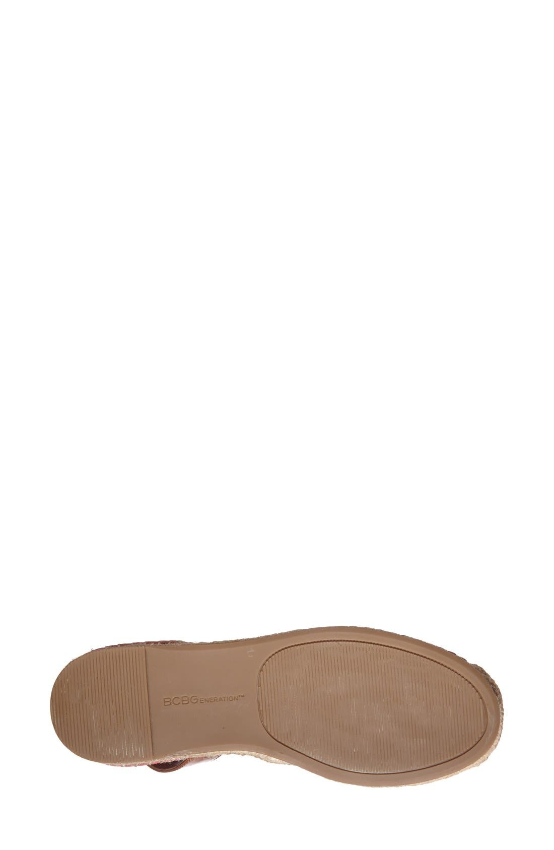 'Felicity 2' Ankle Strap Espadrille Flat,                             Alternate thumbnail 4, color,                             Passion/ Toffee