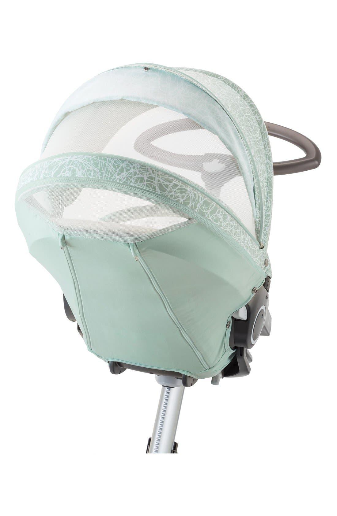 Baby 'Xplory<sup>®</sup> Stroller Summer Kit' Shade Set,                             Alternate thumbnail 4, color,                             Salty Blue