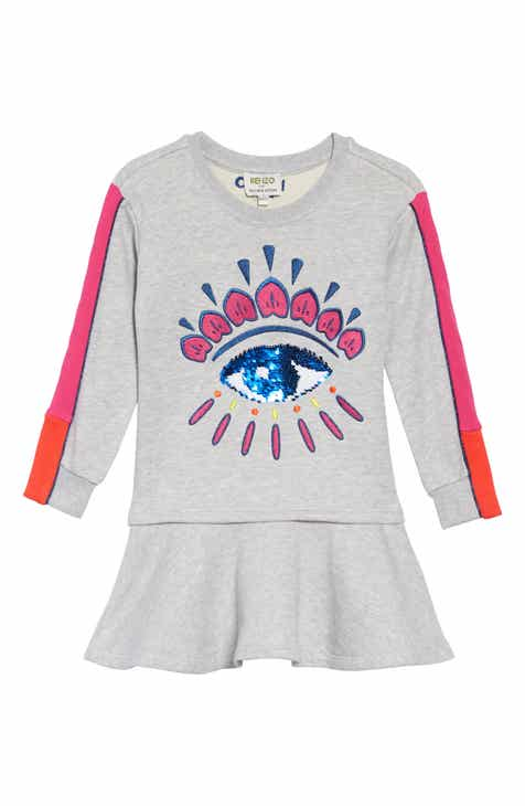 ccbbeb5c KENZO Eye Fleece Dress (Little Girls & Big Girls)