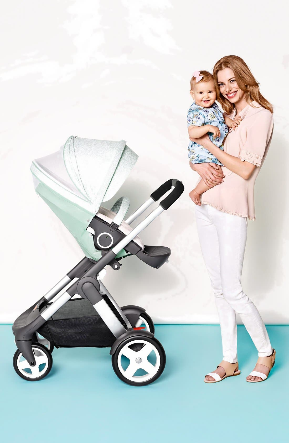 Baby 'Xplory<sup>®</sup> Stroller Summer Kit' Shade Set,                             Alternate thumbnail 7, color,                             Salty Blue