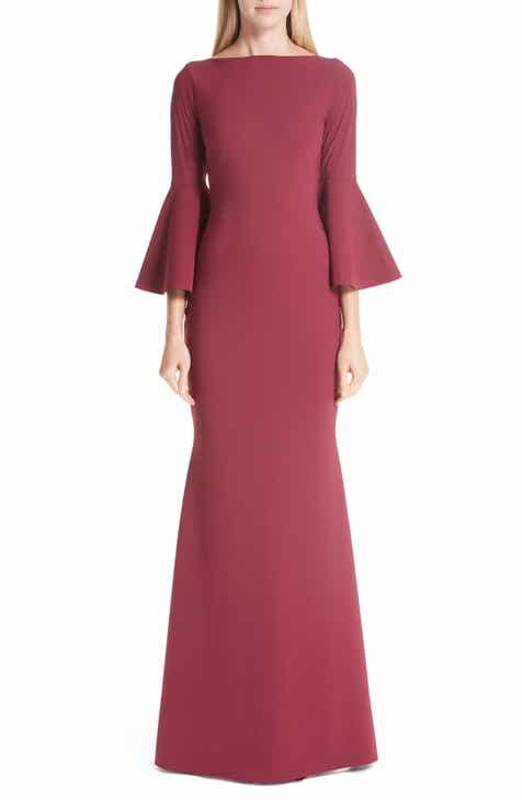 Carmen Marc Valvo Infusion Embroidered Mesh Puff Sleeve Cocktail Dress by CARMEN MARC VALVO INFUSION