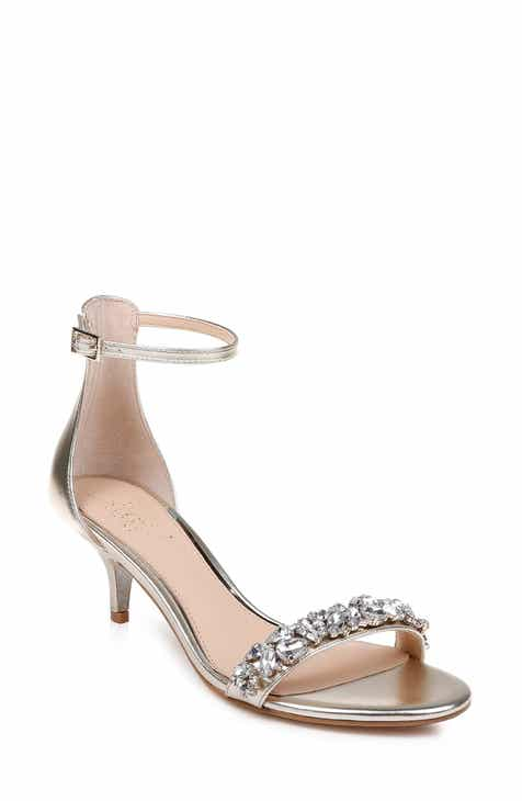 c6c254fedff2 Jewel Badgley Mischka Dash Embellished Halo Strap Sandal (Women)
