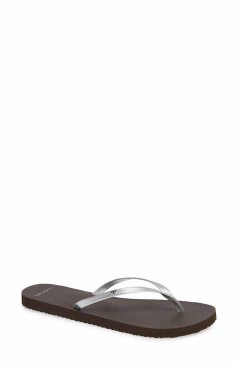 4b222f2b9 Tory Burch Logo Metallic Flip Flop (Women)