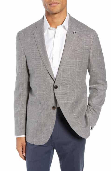 f79c2f608aceab Ted Baker London Kyle Trim Fit Windowpane Wool Sport Coat
