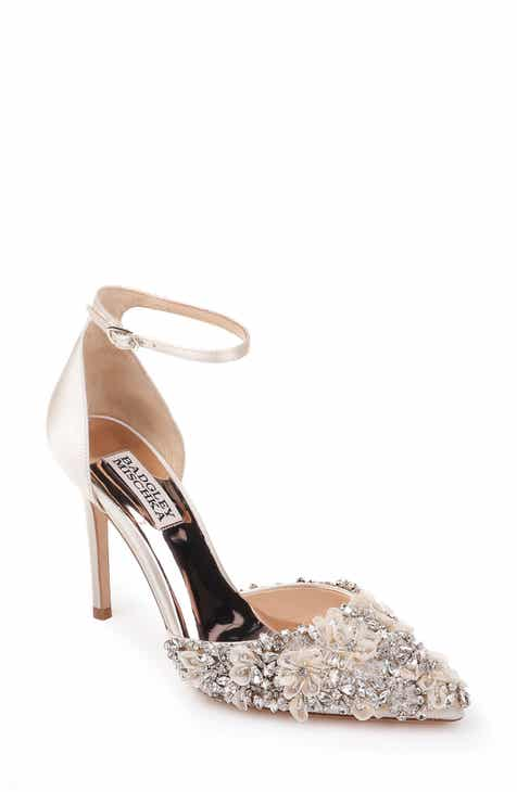 dce0a58bbf02 Badgley Mischka Fey Embellshed Ankle Strap Pump (Women)