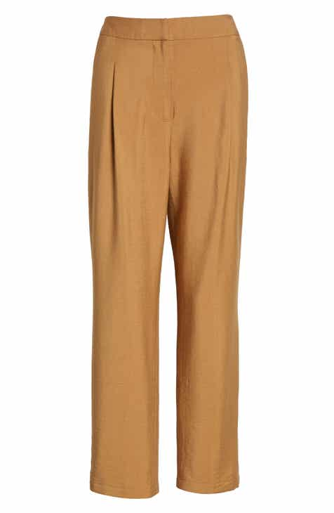 Leith Pleat High Waist Ankle Pants By LEITH by LEITH Fresh