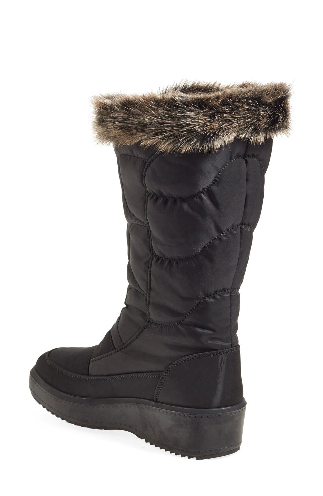 'Louise' Weatherproof Boot,                             Alternate thumbnail 2, color,                             Black Fabric