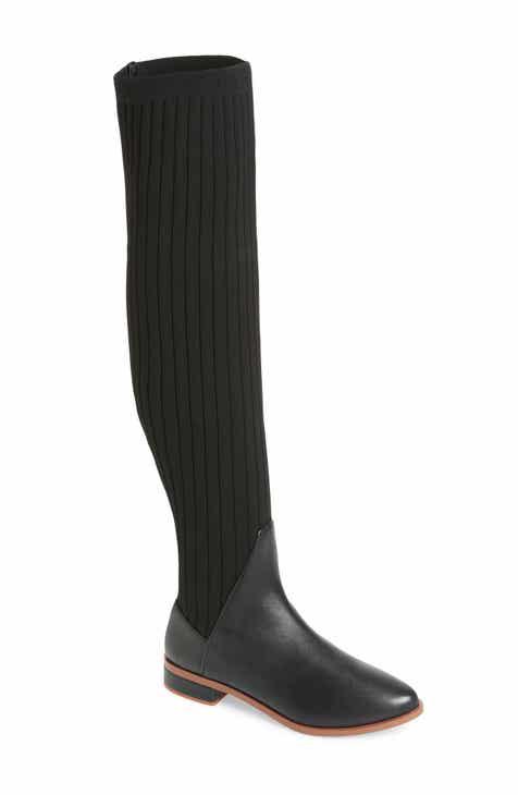6abd2b6d1ee Kelsi Dagger Brooklyn Alva Over the Knee Sock Knit Boot (Women)